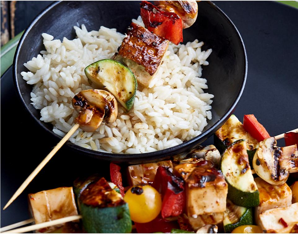 Tofu kabobs